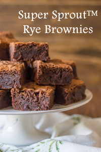 Super Sprout Rye Brownie Recipe